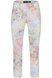 Robell Rose 09 3/4 Length Multi Pattern Pants