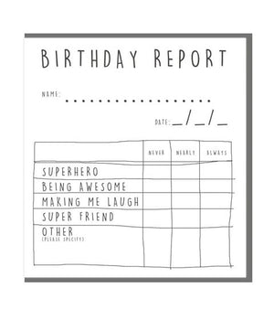 Birthday Report