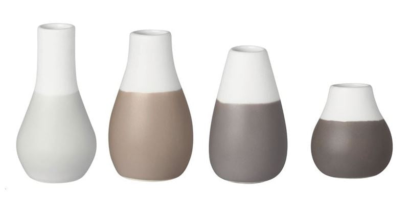 Grey Pastel Mini Vases