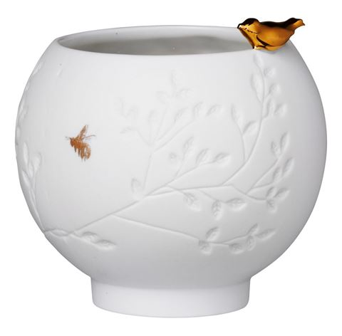 Bird Porcelain Vessel