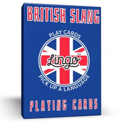 British Slang Lingo Playing Cards