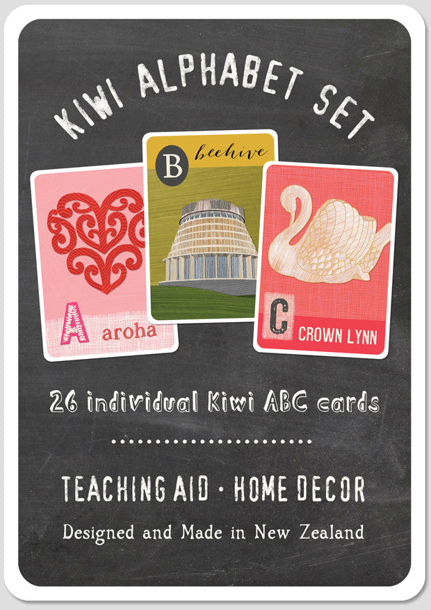 Kiwi Alphabet Set - Flash Cards or Frieze