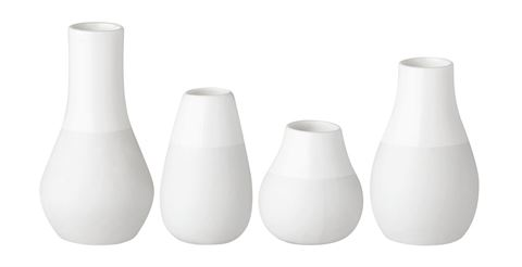 White Pastel Mini Vases