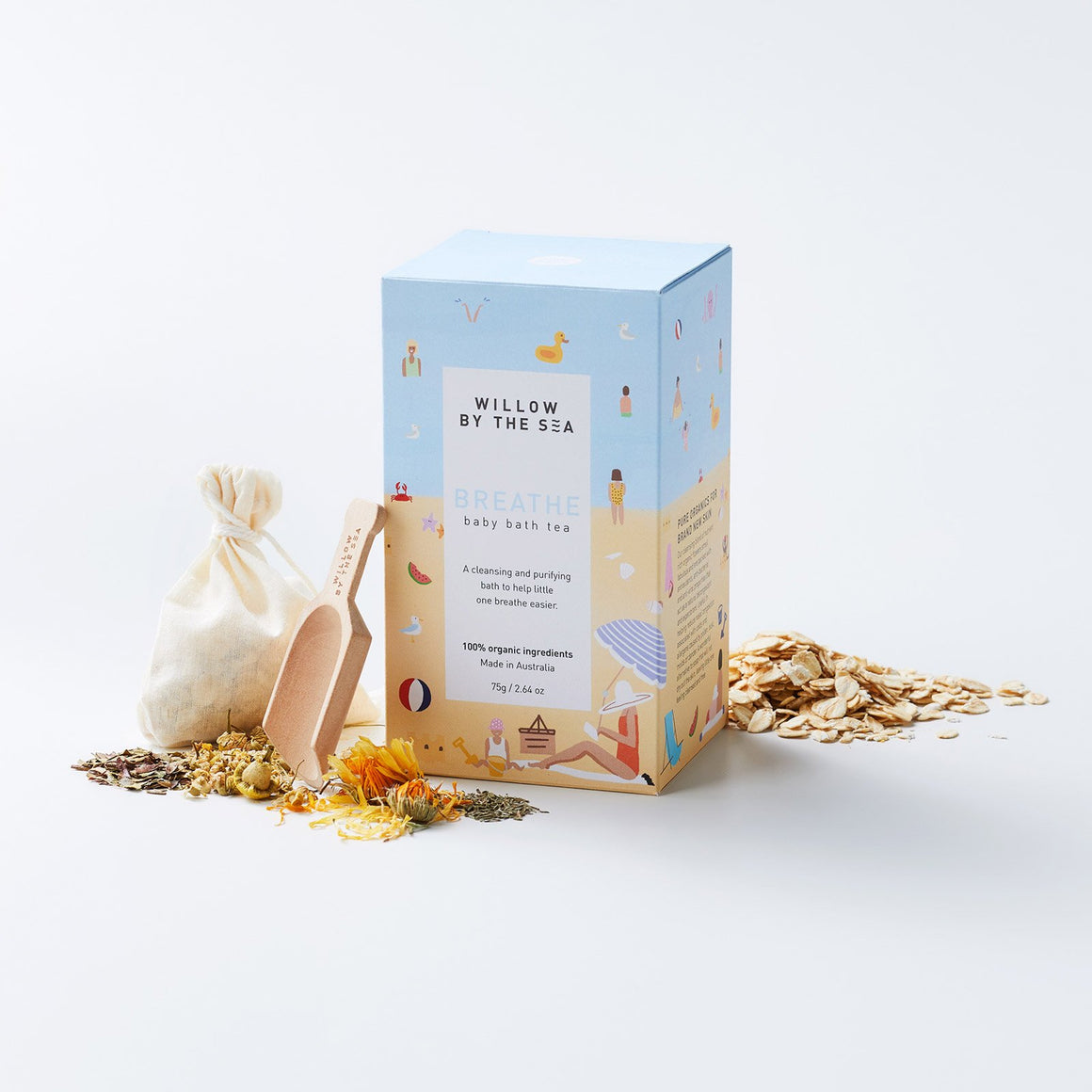 BREATHE Organic Baby Bath Tea