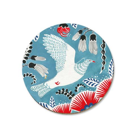 Kereru on Blue Coaster