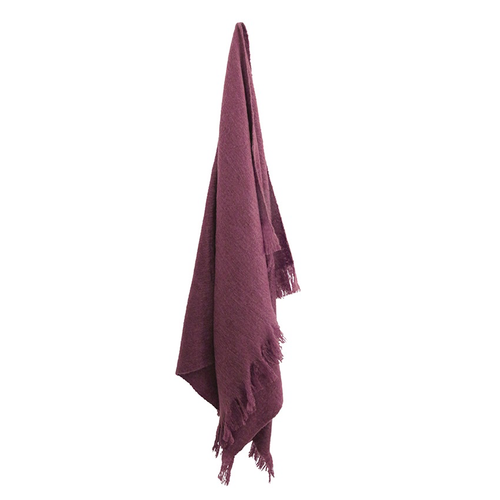 Plum Throw