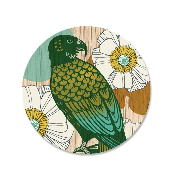 Screenprint Kea Coaster