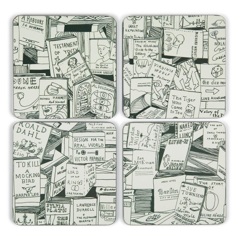 Book Covers Coaster Set