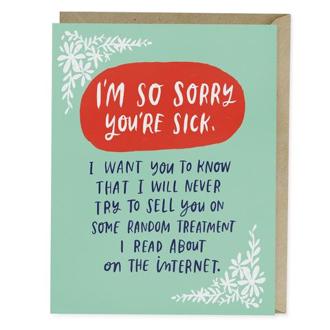 I'm So Sorry You're Sick