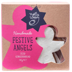 Handmade Festive Gingerbread Angels