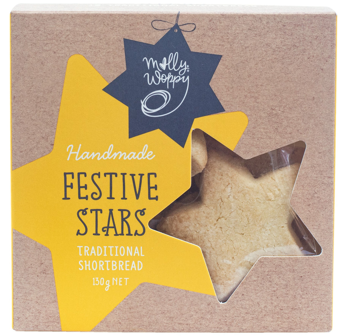 Handmade Festive Stars: Traditional Buttery Shortbread
