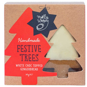 Handmade Festive Trees: White Choc Topped Gingerbread