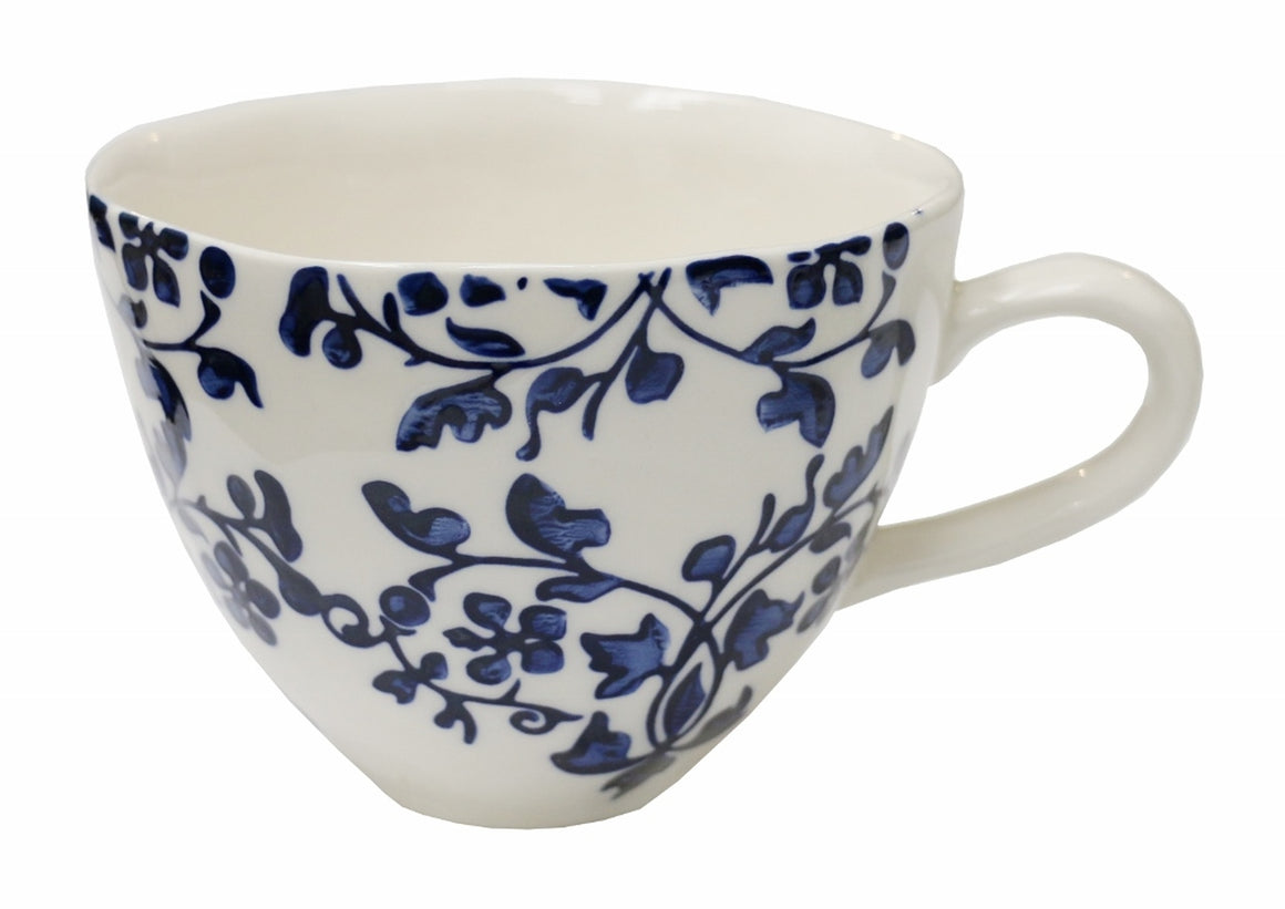Florentine Bleu Hand Painted Cup