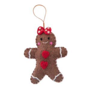 Felt Gingerbread Hanging Decoration