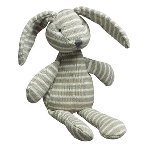 Knitted Stripe Bunny Soft Toy