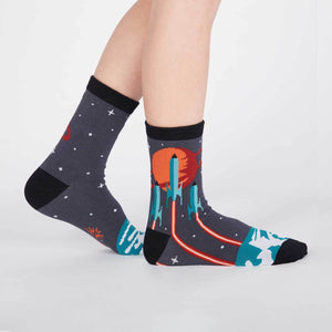 Launch From Earth Junior Crew Socks