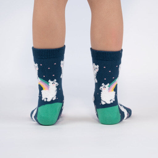 Llam-where Over The Rainbow Junior Crew Socks