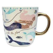 By The Sea Mermaid Tea Cup With Gift Box
