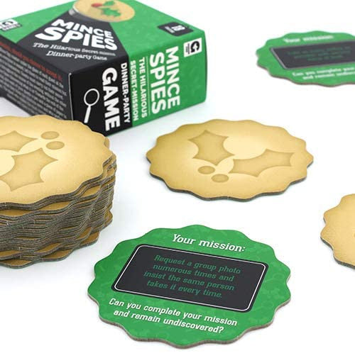 Mince Spies Festive Themed Coaster Card­ Game