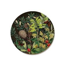 Pine Cone And Berries Coaster