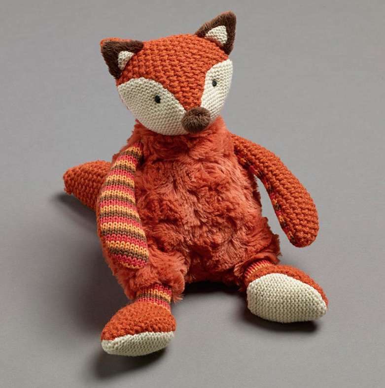 Plush Rust Fox with Rattle