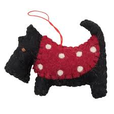 Felt Hanging Dog Decorations