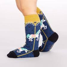 Carousel Toddler Knee High Socks
