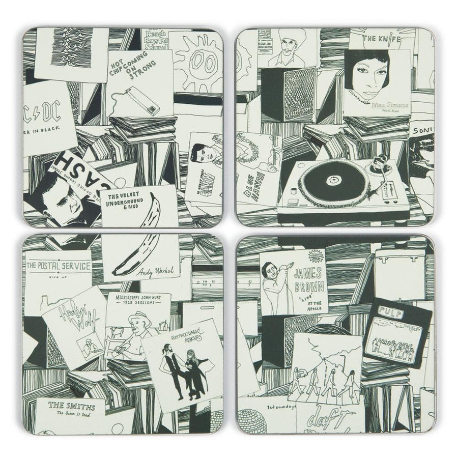 Vinyl Covers Coaster Set