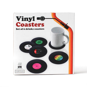 Retro Vinyl Coaster Set
