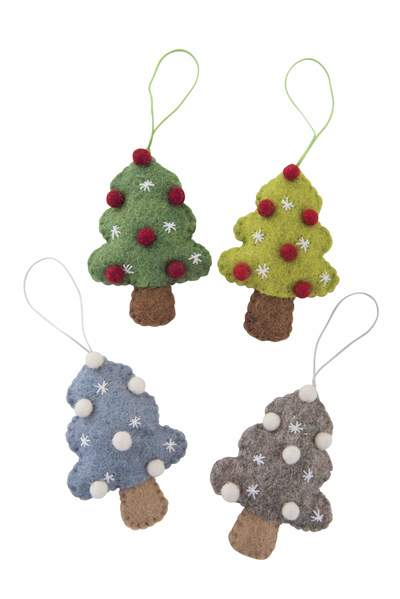 Felt Christmas Tree with Balls Hanging Decoration