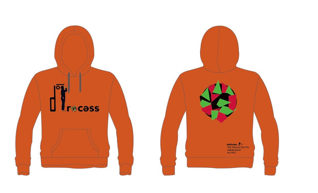"""Walking While Black"" Hoodie-Orange"