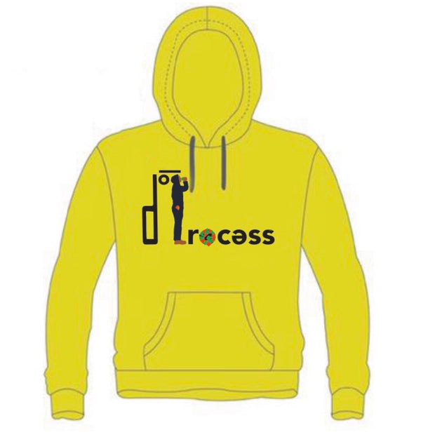 """Walking While Black"" Hoodie-Yellow"