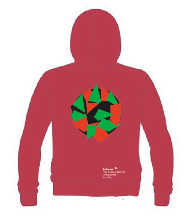 """Walking While Black"" Hoodie-Red"
