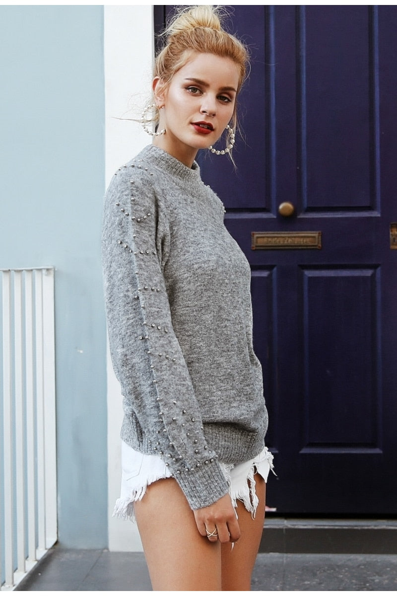 Beaded Warm Jumper