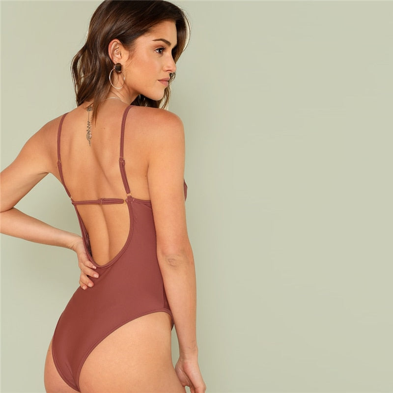 Caramel Low Back Bustier Bodysuit
