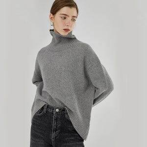 Loose Fit High Collar Sweater