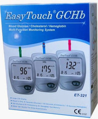 Easy Touch Blood Glucose/Cholestrol/Hemoglobin Test Kit (GCHb)