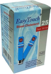 Easy Touch Cholesterol Test Strips (25 per Vial)