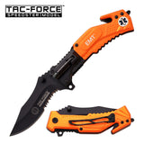 Tac-Force Tactical Spring Assisted Knife with LED Light TF874EM