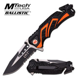 "MTech Ballistic 4.5"" Closed Rescue Knife - A865EMO"