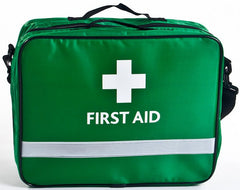 Schools and Clubs First Aid Kit in Green Bag with Removable Pouches
