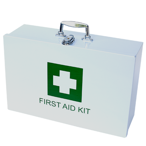Large Government Reg  7 First Aid Kit in Metal Case | The