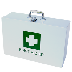 Government Regulation 7 First Aid Kit in Metal Wall Mountable Case