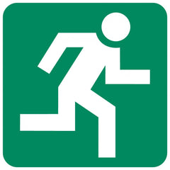 Running Man (Right) safety sign