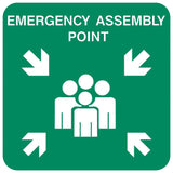 Small Emergency Assembly Point safety sign