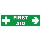 First Aid - ( Right ) safety sign