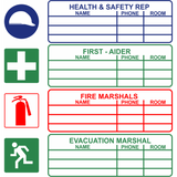 Medium Health and Safety Rep Safety sign