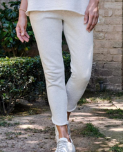 Load image into Gallery viewer, Tulip Ankle Sweatpant in Heather White Melange