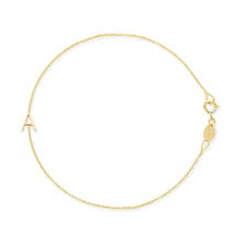 Load image into Gallery viewer, Asymmetric Letter Bracelet In 14k Yellow Gold