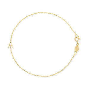Asymmetric Letter Bracelet In 14k Yellow Gold
